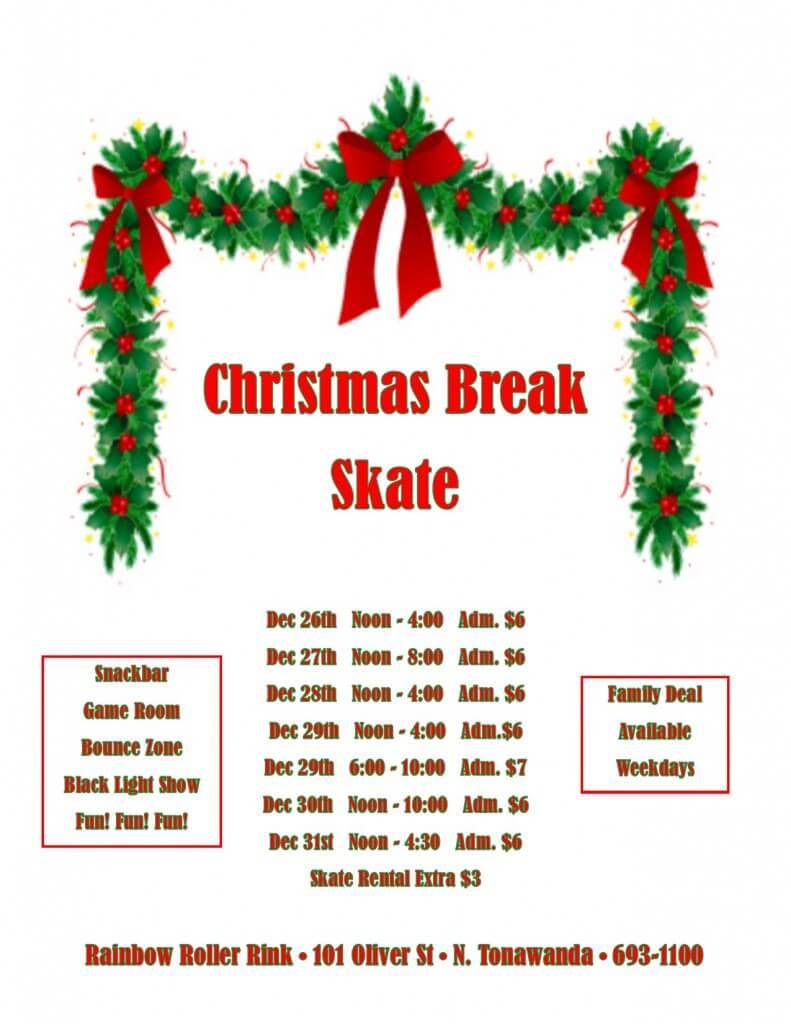 Christmas break skate