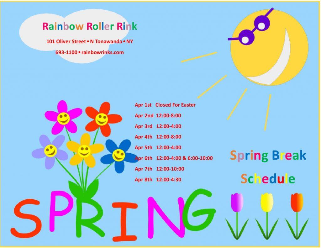 spring break roller rink