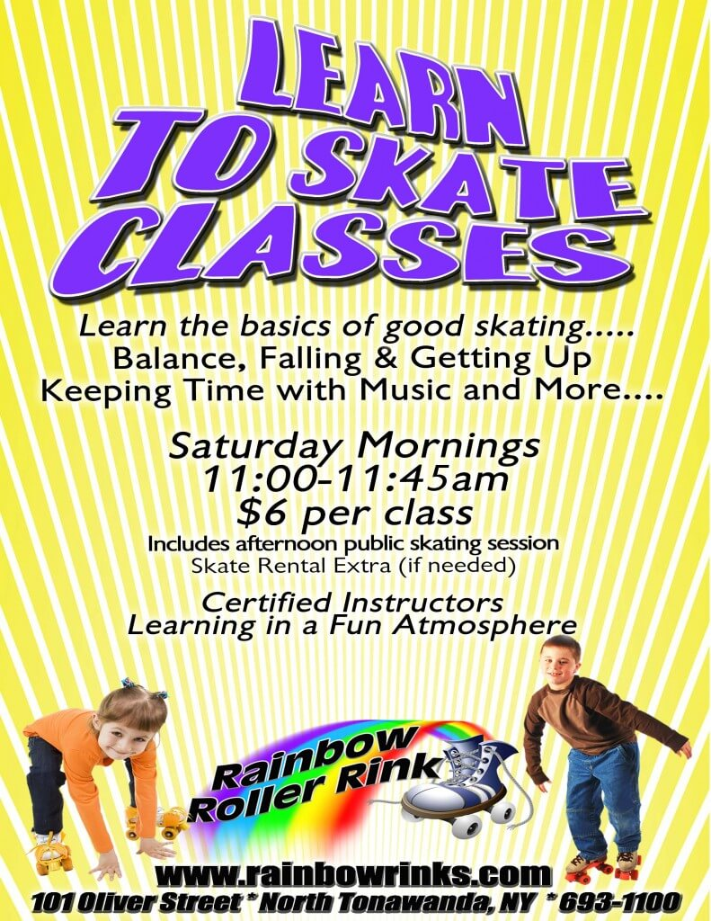 Learn to Skate Classes - Rainbow Roller Rink