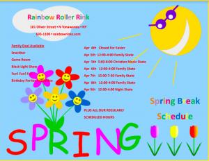 Spring Break 2021 Schedule